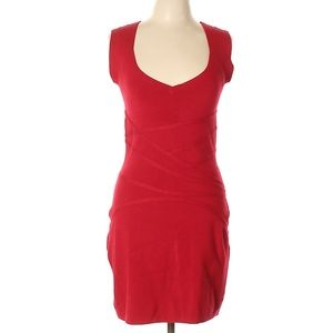 Halston Heritage Sexy Red Dress